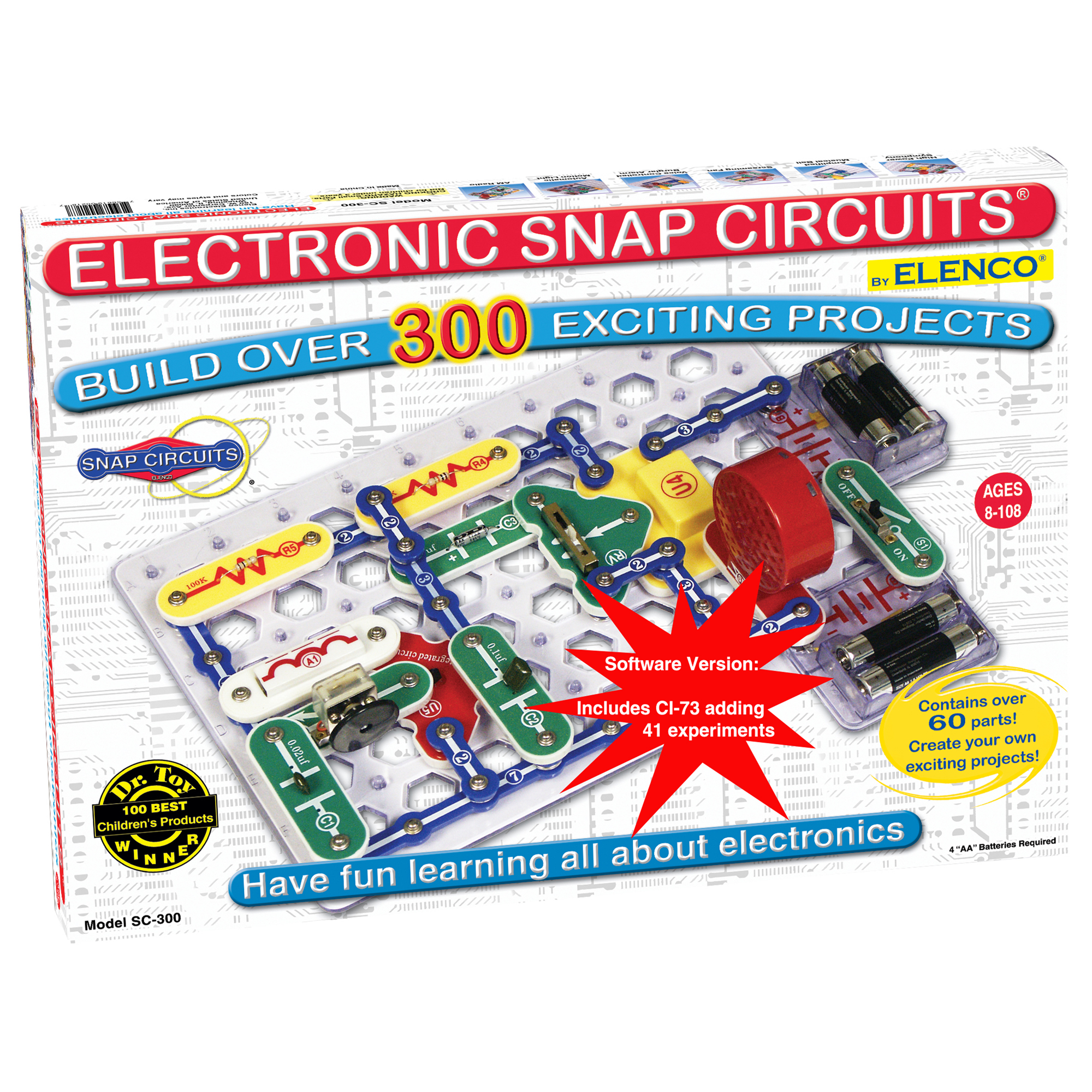 Snap Circuits Elenco Protoboard For Electronic Projects Buildcircuit 300 In 1 With Computer Interface