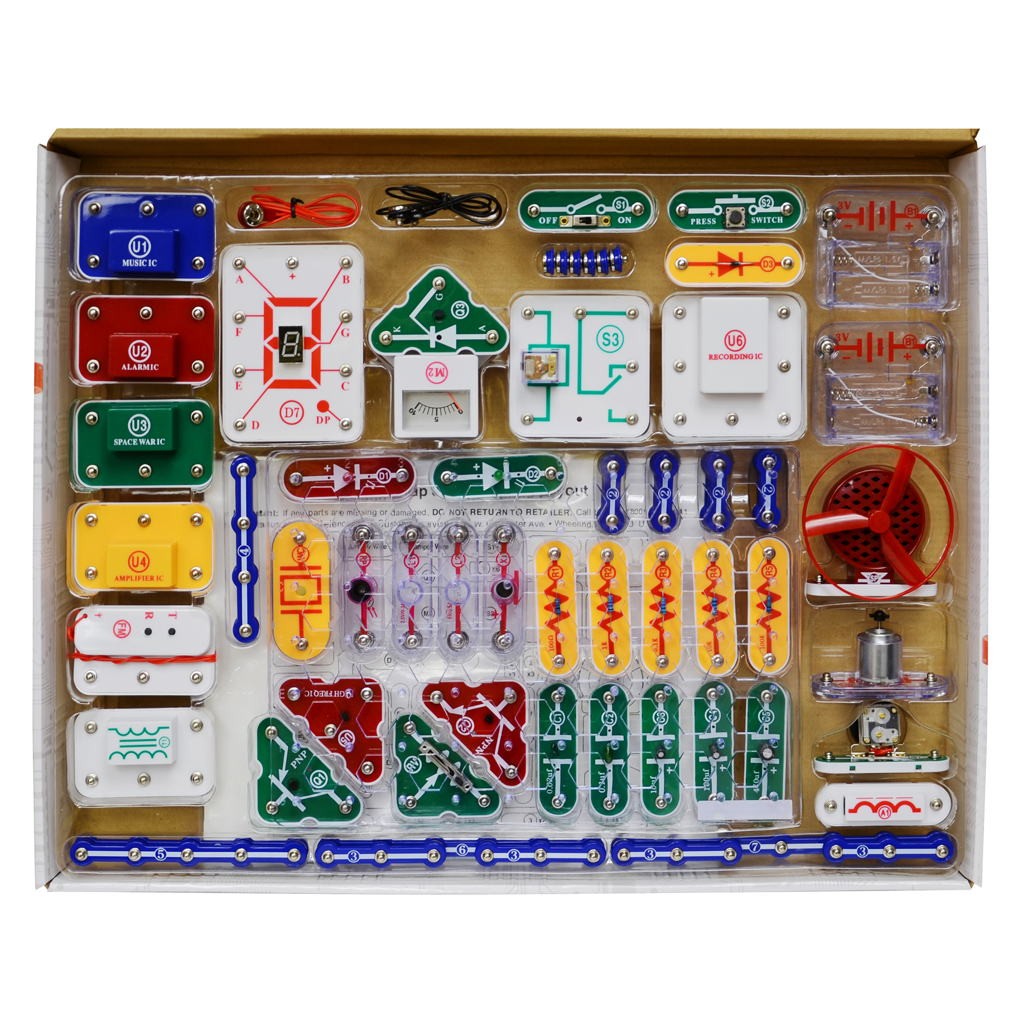 Snap Circuits Pro Sc 500 Electronics Great Installation Of Wiring Elenco Lights Walmartcom Experiments Rh Com Light Set Exploration Kit