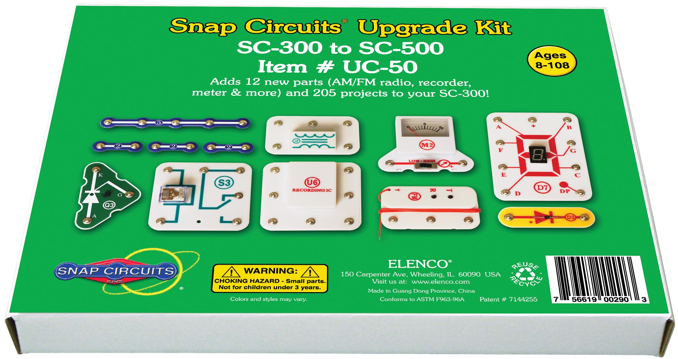 uc 50 snap circuits upgrade kit elenco electronicsupgrade kit sc300 to sc500