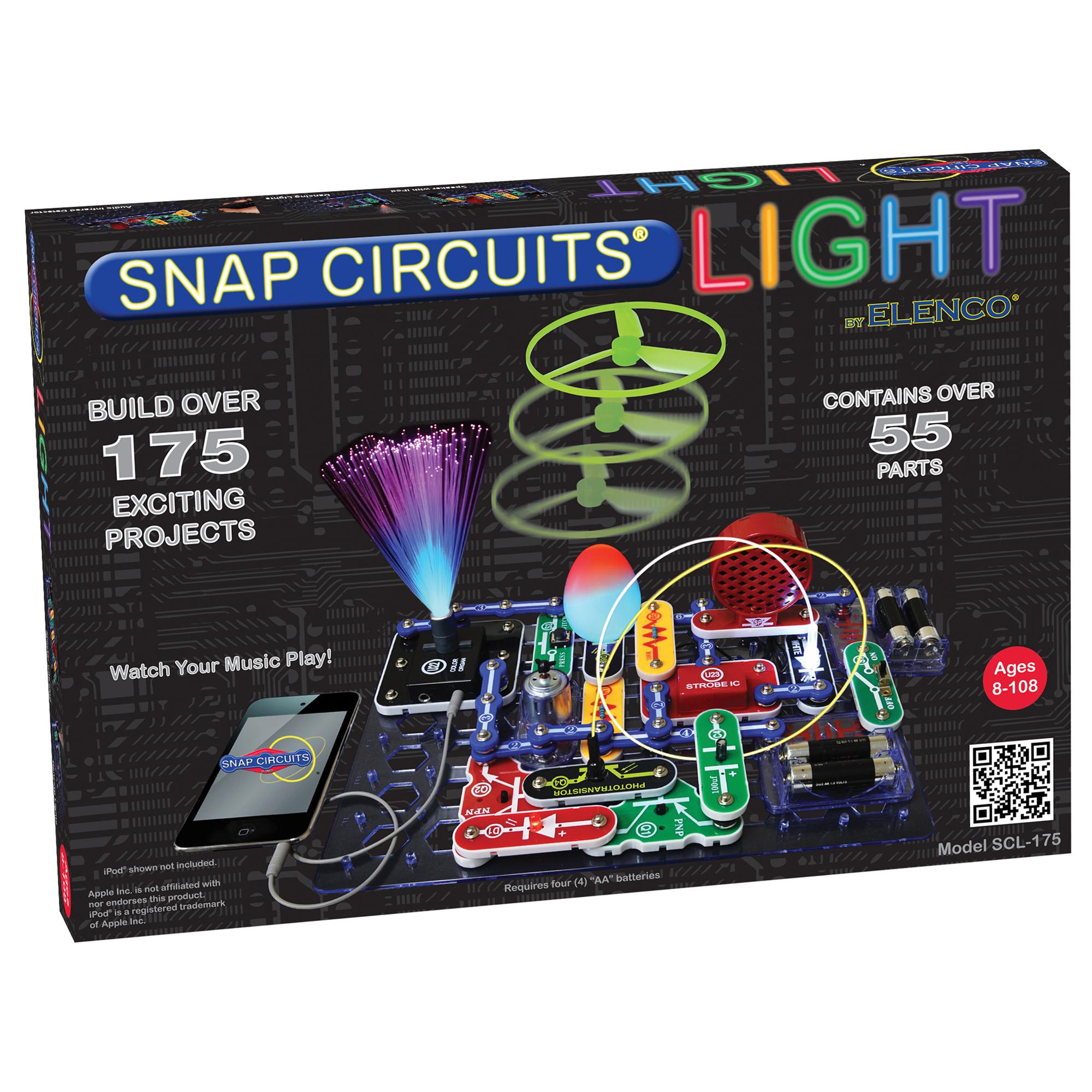 Snap Circuits Light Experiments Wiring Diagrams Upgrade Sc100 To Sc750 Click Enlarge Elenco Rh Com 3d Rover