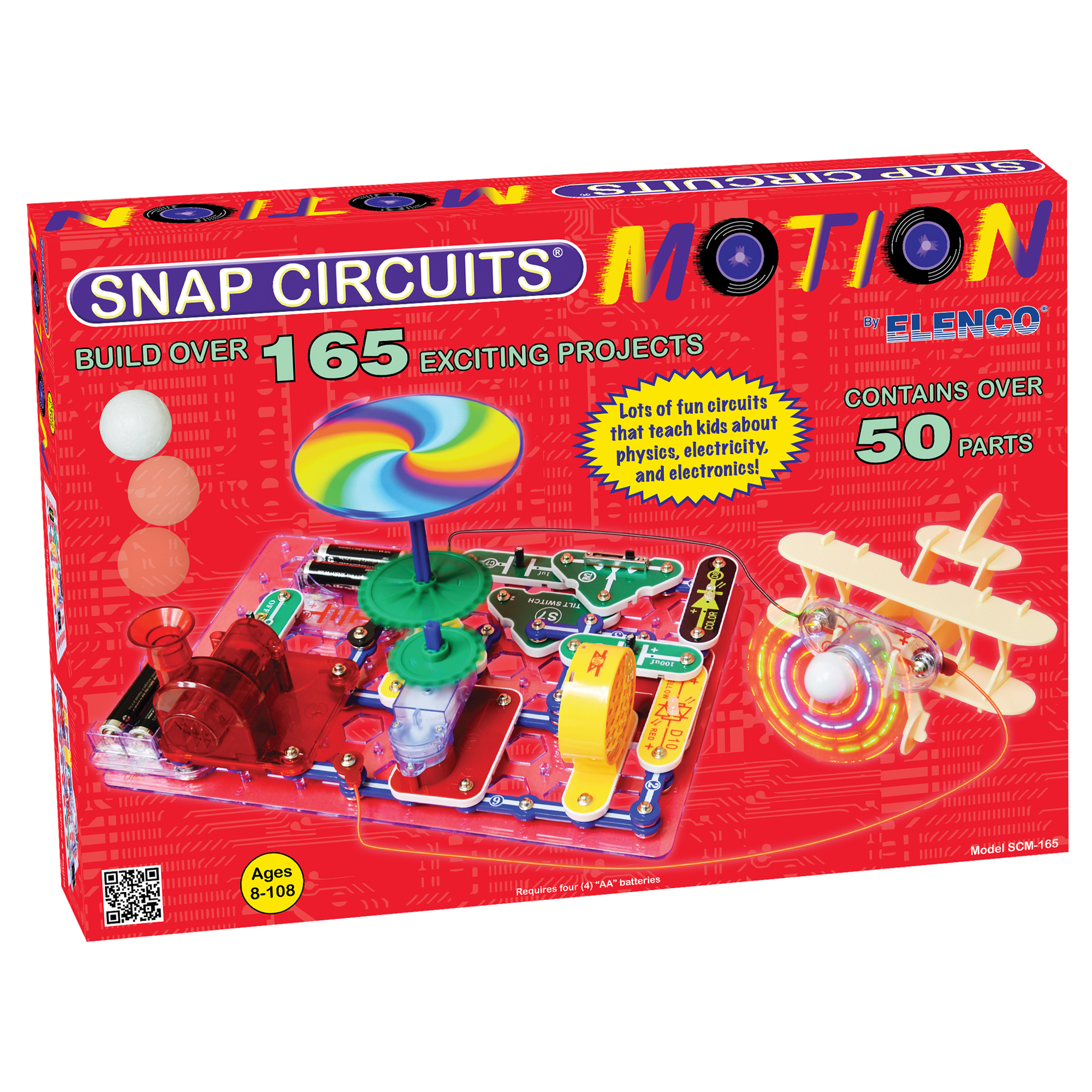 View Larger Snap Circuits Motion Geek Tattoos Sound Kit Image One Xumpcom Scm165 3 Scm 165 New