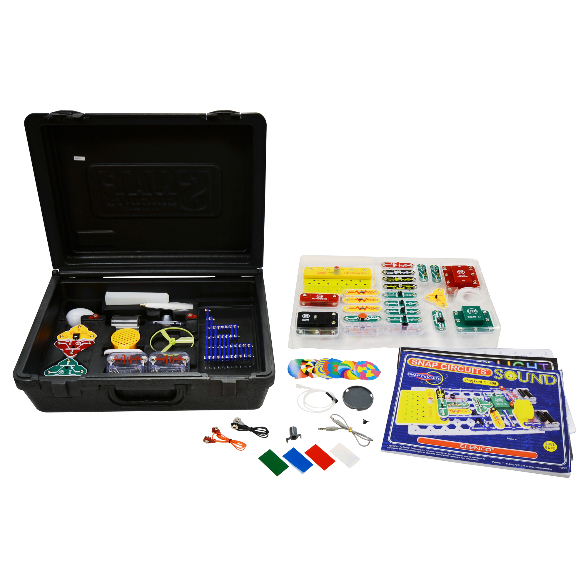 Snap Circuits Light And Sound Case Ask Answer Wiring Diagram Elenco Scl 175 Kids Learn Electronic Projects Deluxe Combo Rh Com Circuit Experiments Arcade U14