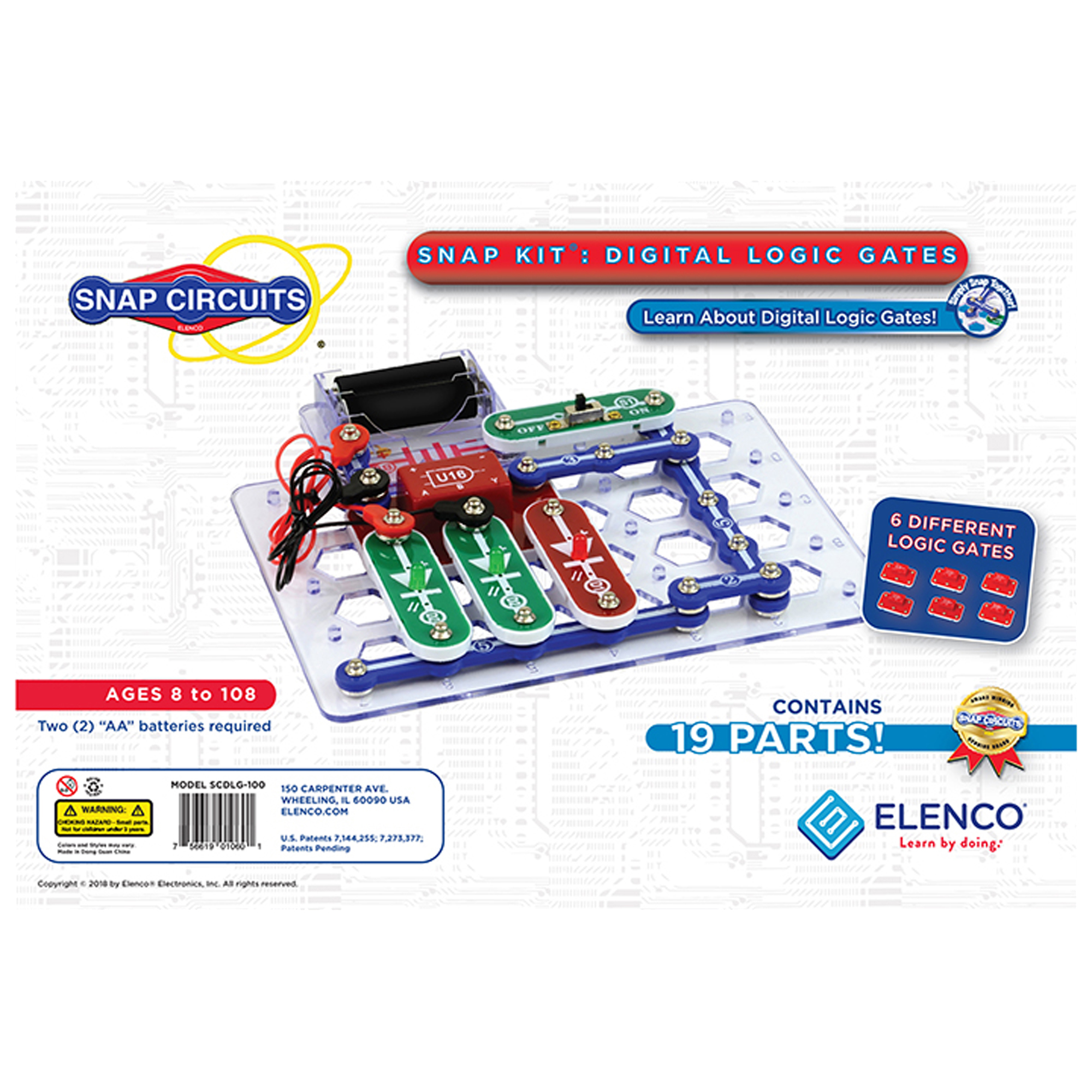Snap Circuits Understanding Logic Gates Elenco Electronic Circuit Parts For Project