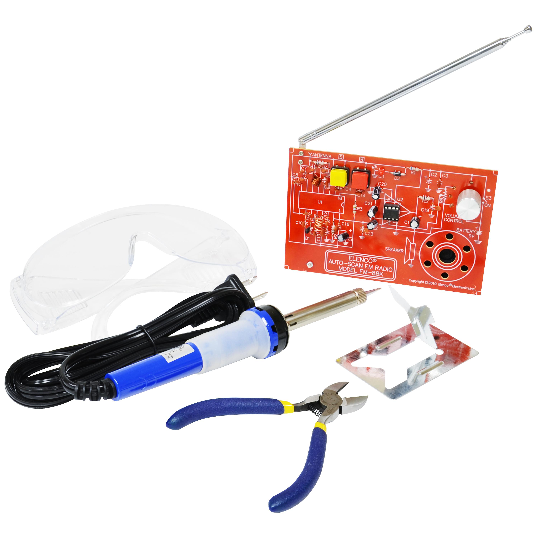 WMSK200 - Two IC FM Radio Kit with Tools - Elenco Electronics