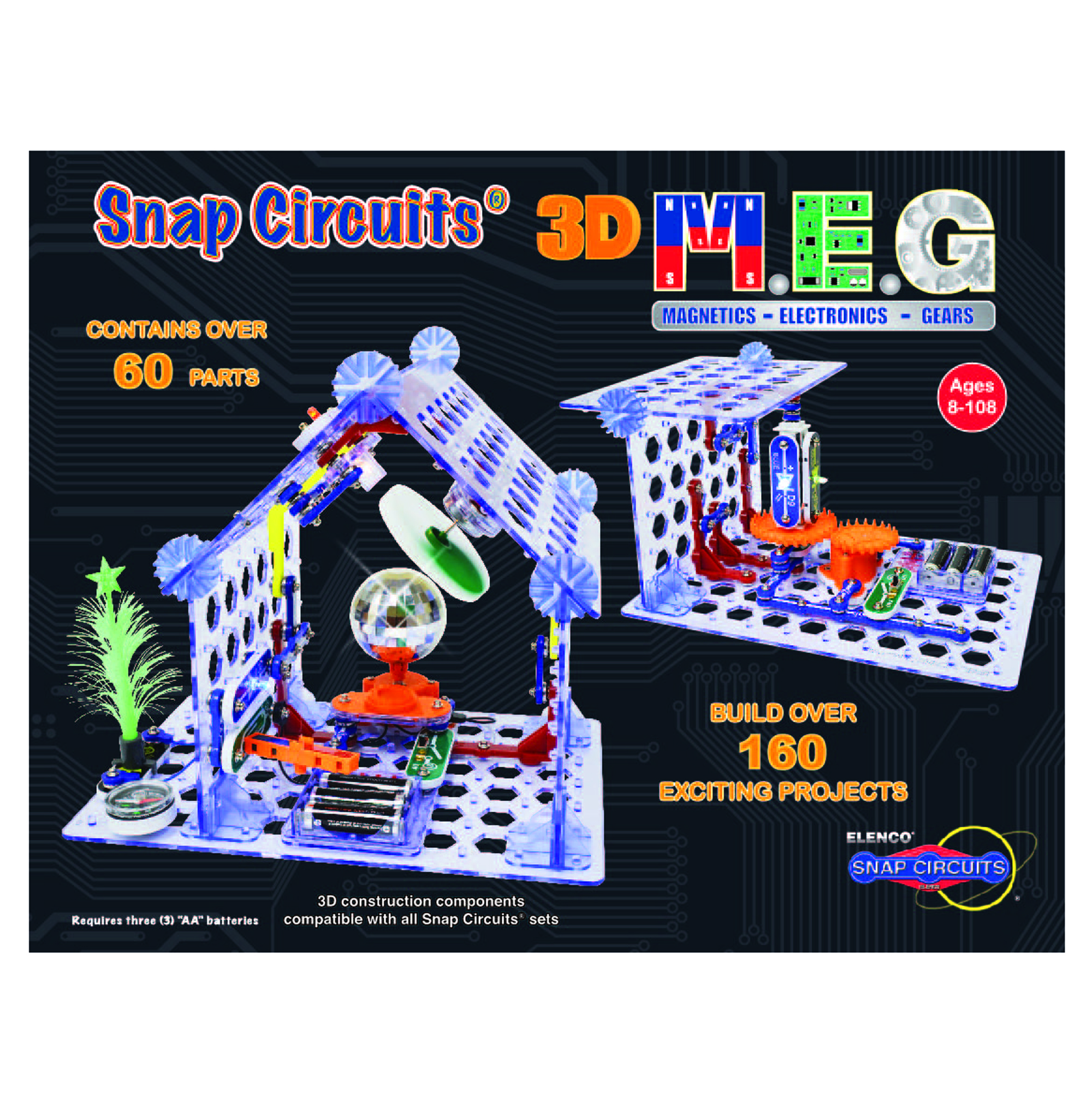 Snap Circuits 3d Meg Elenco Electronics Components Of A Circuit