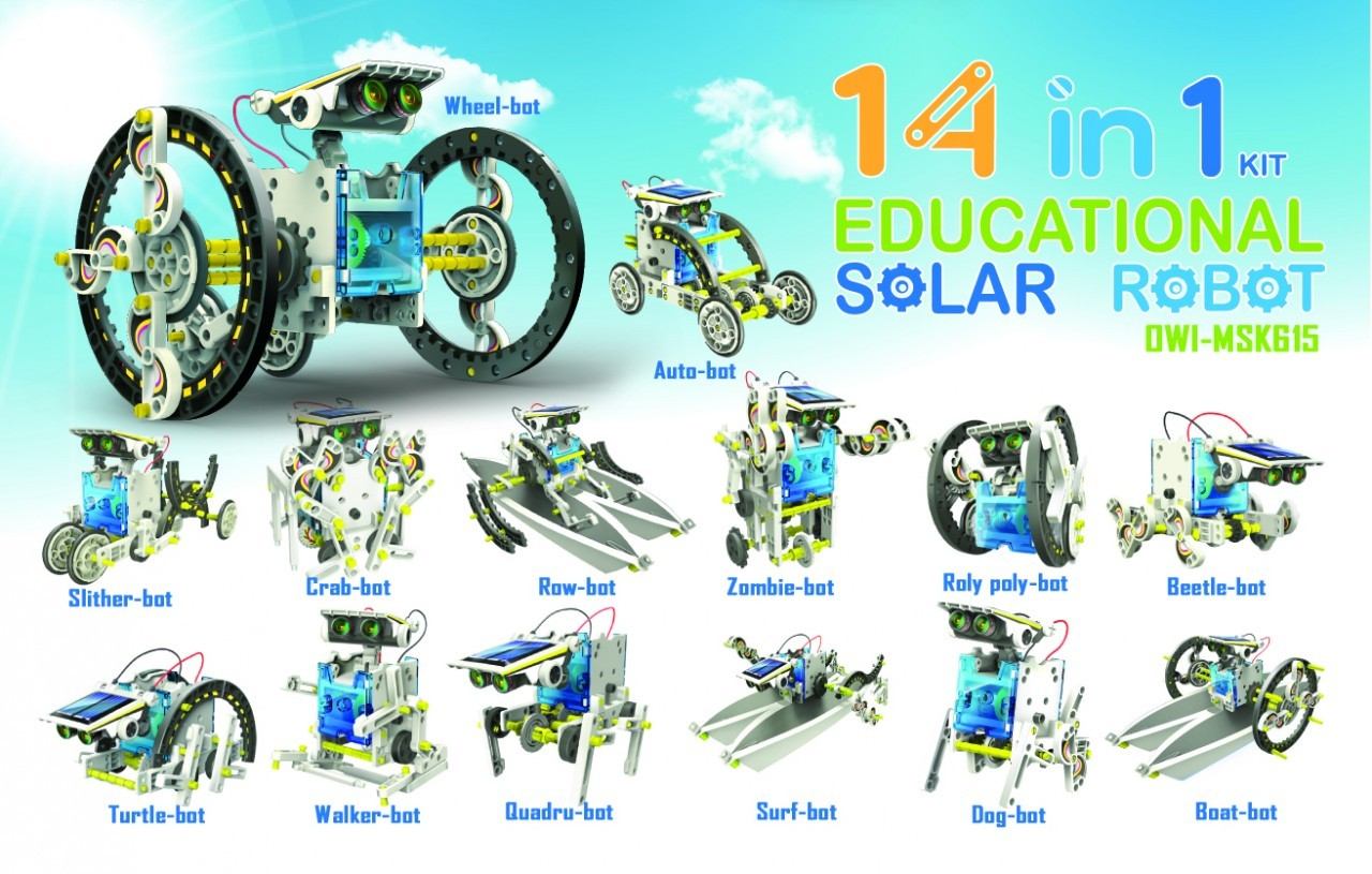 14 In 1 Solar Robot Kit Educational Toys By Elenco Electronics Buy Snap Circuits Green Alternative Energy Online At Low