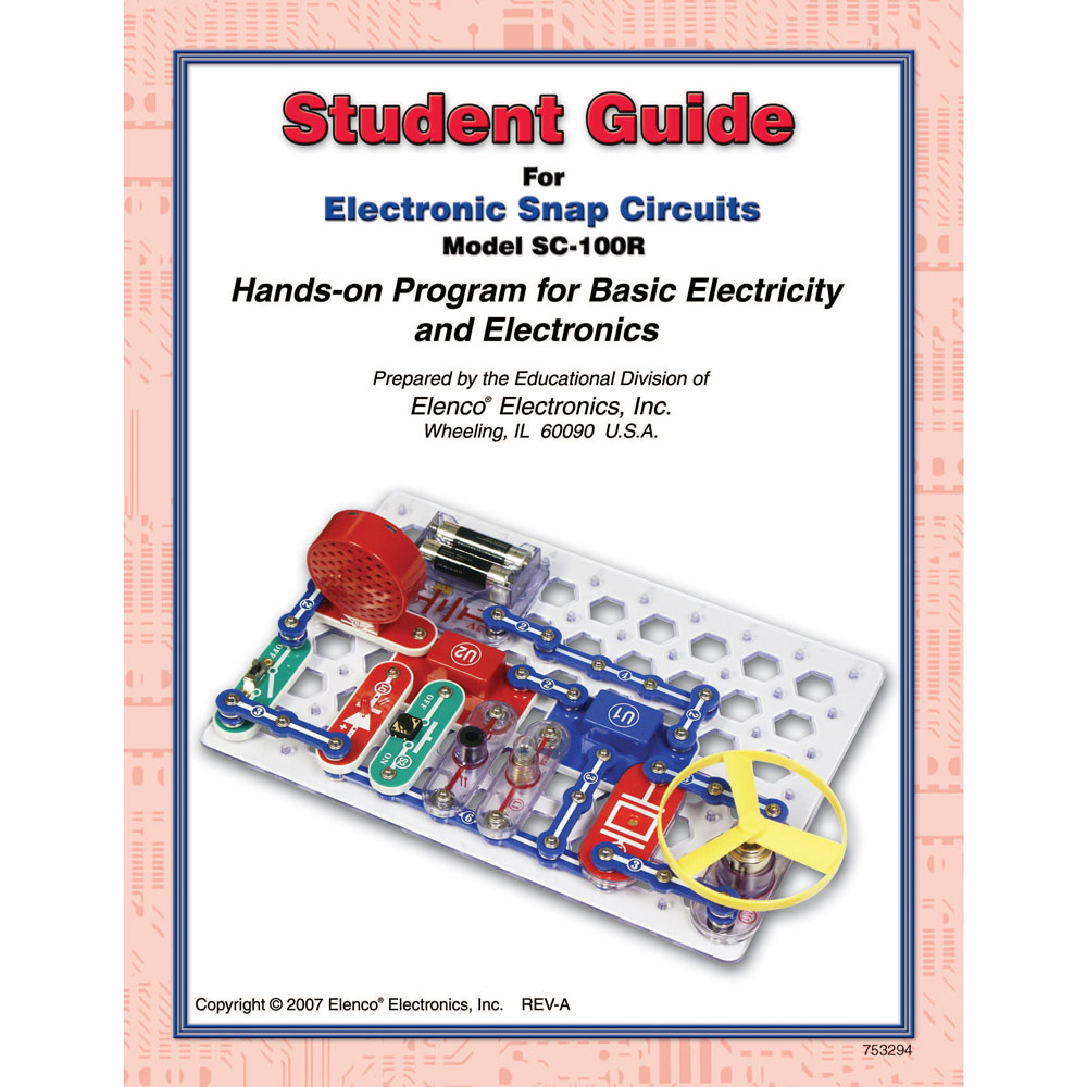 Snap Circuits Guide Engine Control Wiring Diagram Pololu Additional Parts Included With 300in1 And 500 Student For Sc100 Sc100r Elenco Rh Com Pdf