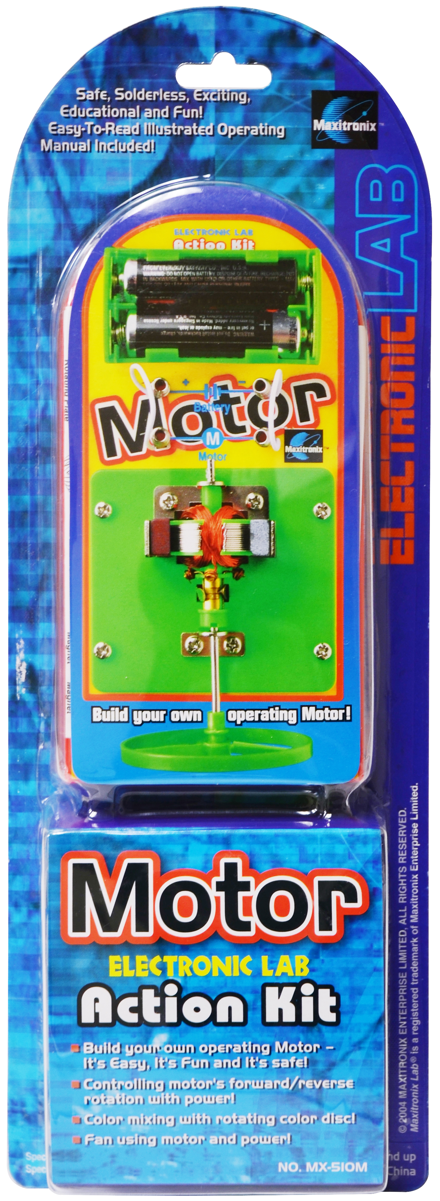 Maxitronix Elenco Simple Electric Circuit Project Kit Inst Electronic Motor Action