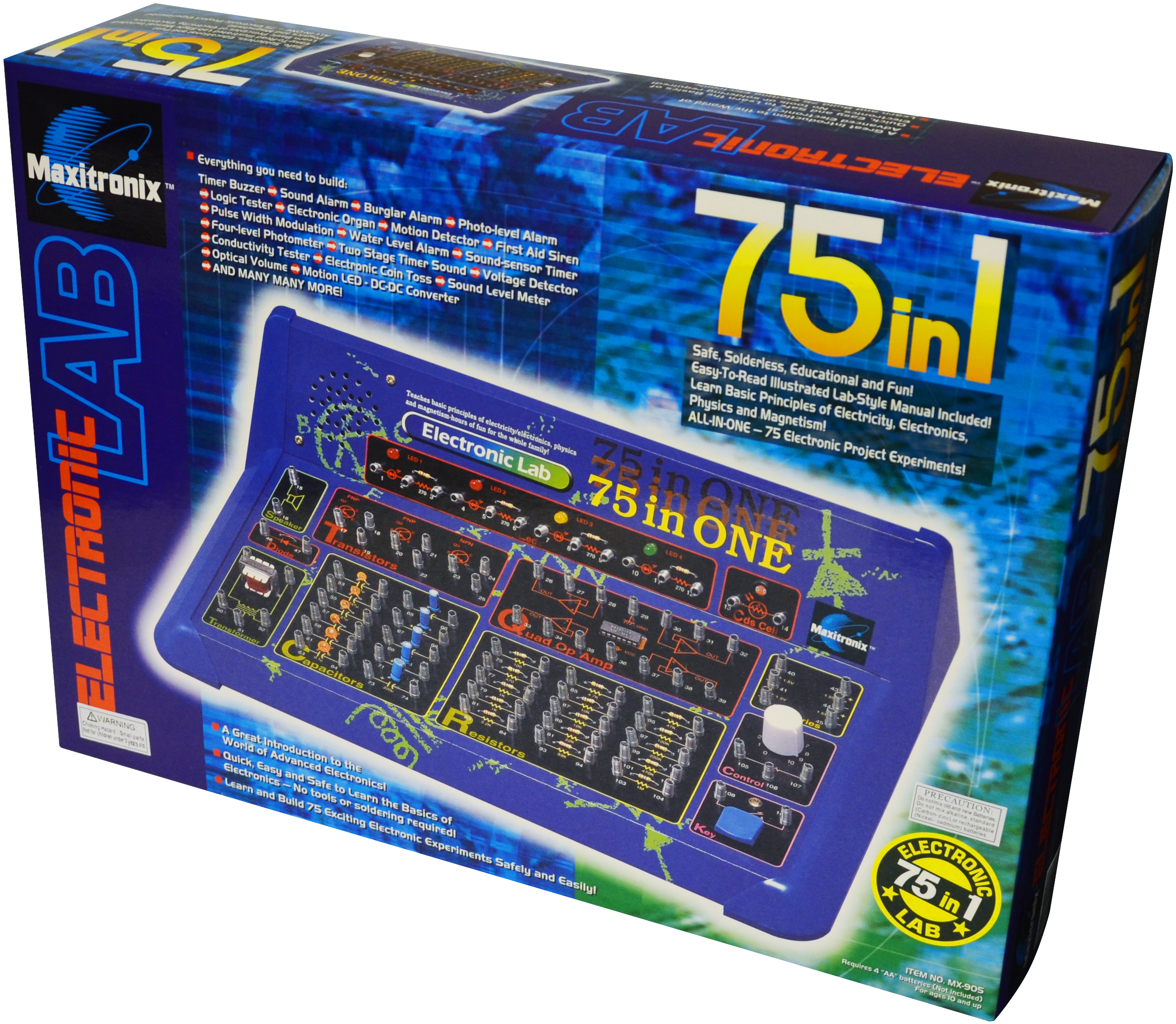 75-in-1 Electronic Project Lab- Elenco Electronics