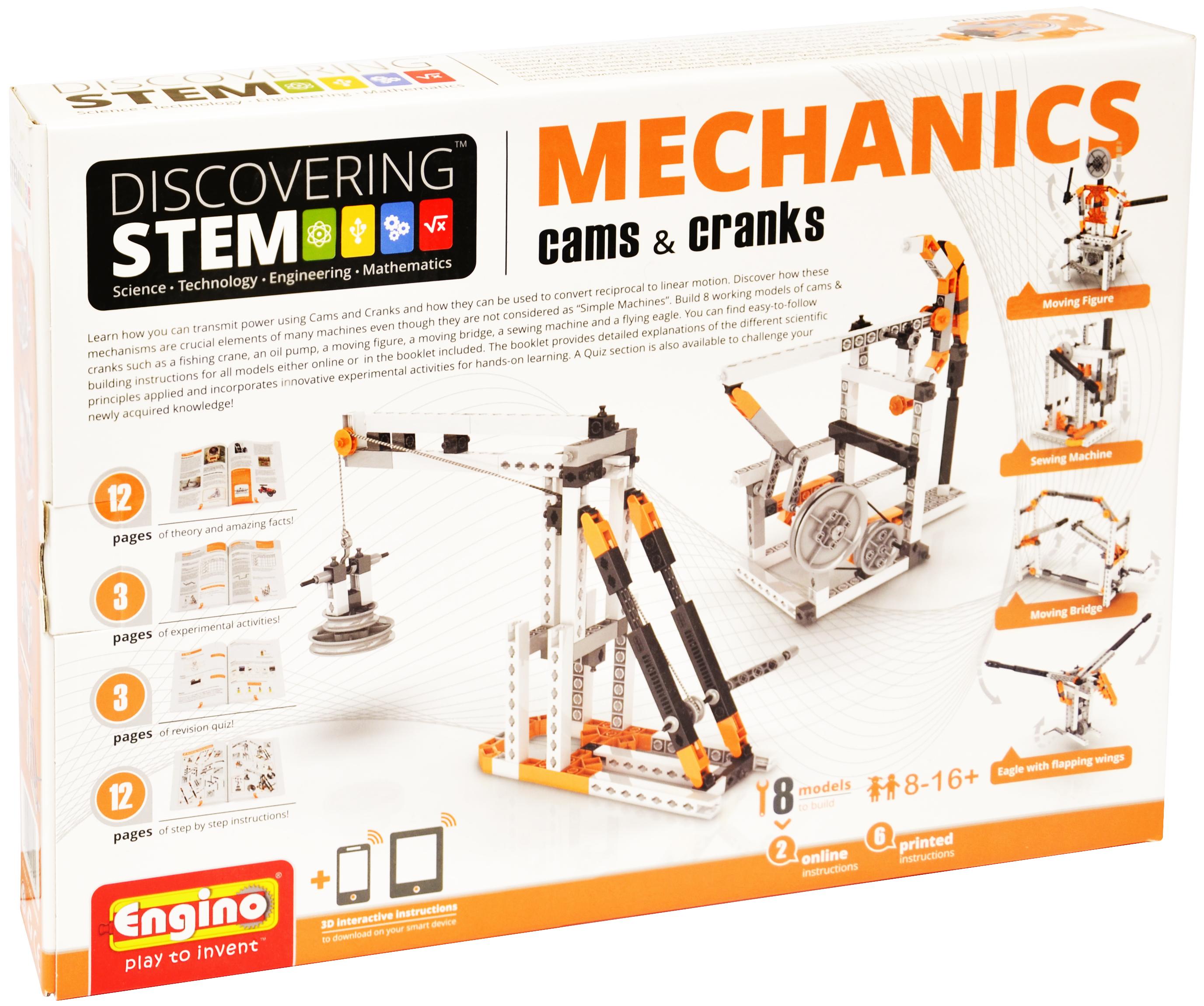 Stem Mechanics Cams Crank Educational Toys By Elenco Electronics Electronic Watchdog Kit Electronix