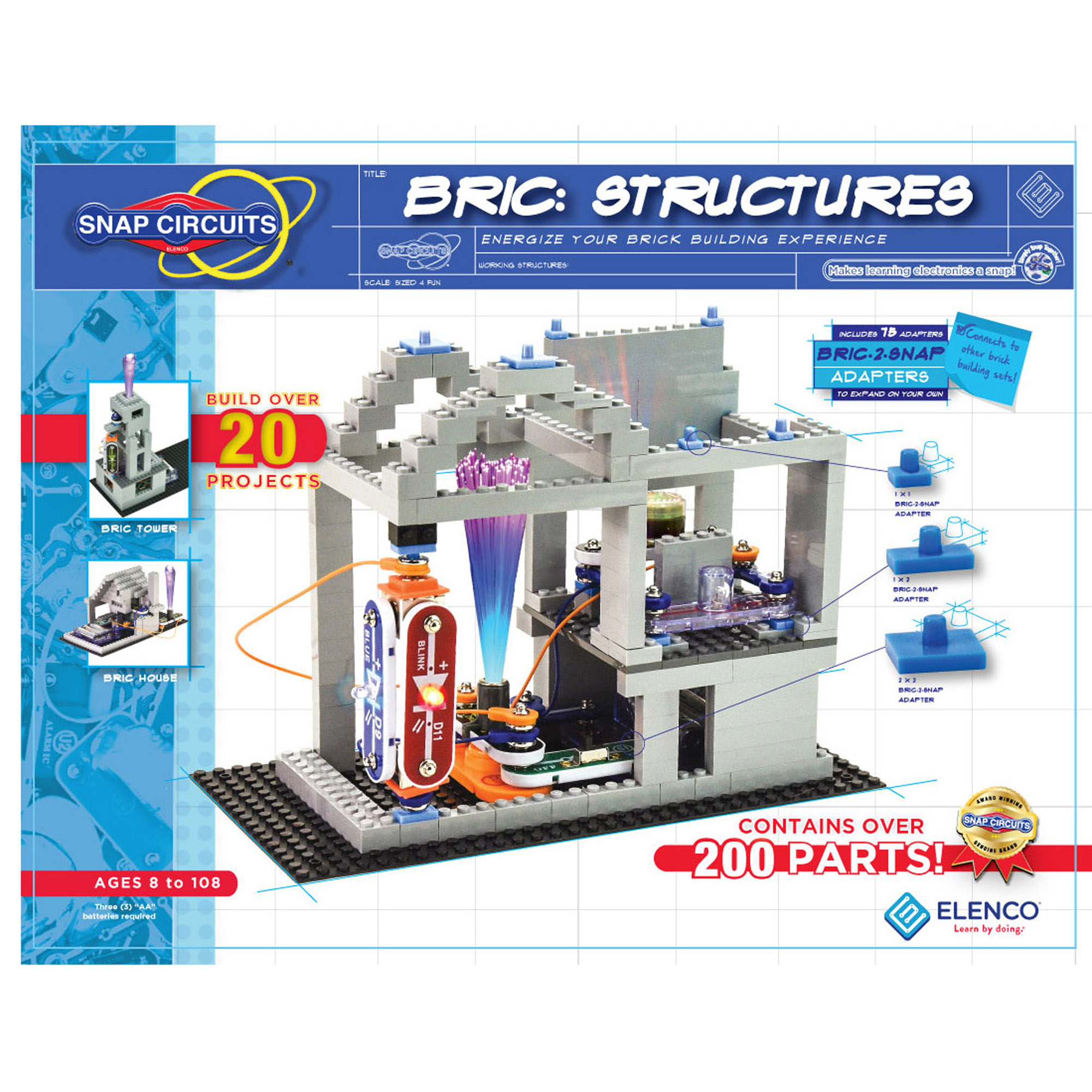 Snap Circuits Bric Structures Elenco Learning Electricity And