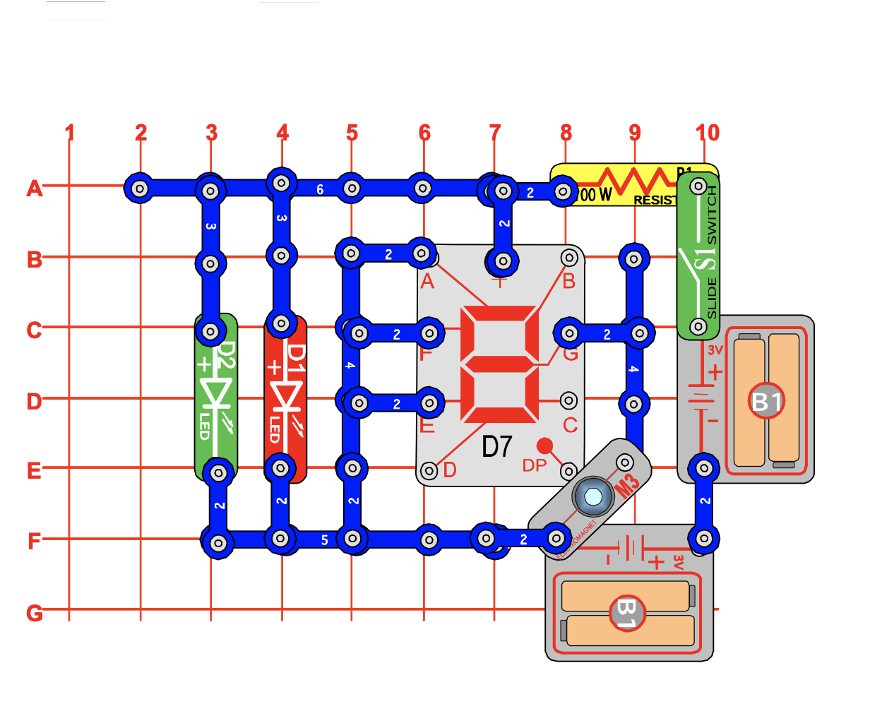 snap circuits design with switch